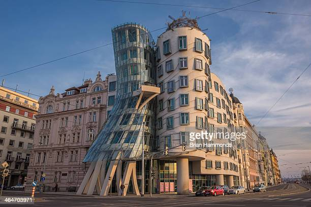 Capture of the famous Dancing House in Prague, Czech Republic.