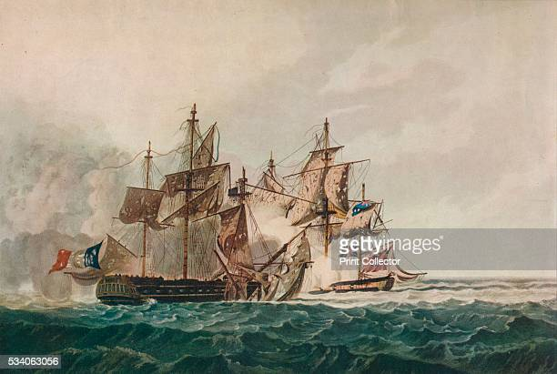 Capture of the 'Furieuse'' from 'Old Naval Prints' by Charles N Robinson Geoffrey Holme 1924 The capture of the French frigate 'Furieuse' by the...