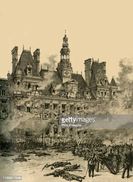 Capture of the Hotel de Ville Paris July Revolution 1830 From Cassell's History of England Special Edition Vol V [Cassell and Company Limited London...