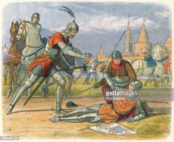 Capture of the Maid' 1864 Capture of Joan of Arc the Maid of Orleans by the Burgundians while defending Compiegne France 1430 Joan of Arc is...