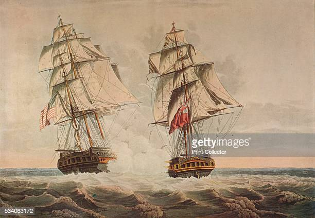 Capture of the President' from 'Old Naval Prints' by Charles N Robinson Geoffrey Holme 1924 The capture of the American heavy frigate USS 'President'...