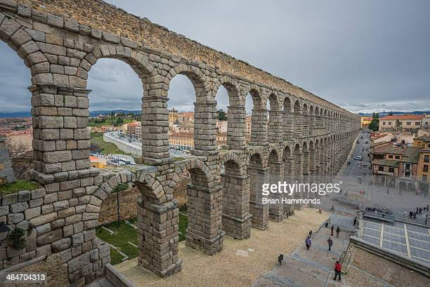 Capture of the Roman aqueducts in Segovia, Spain.
