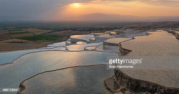 Capture of the salt pools in Pamukkale, Turkey.