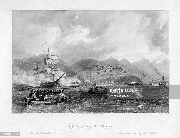 'Capture of Tinghai Chusan' China 1841 From a sketch on the spot by Lieutenant White Royal Marines The Chinese city of Zhousan was captured by the...
