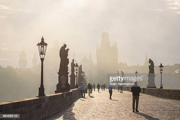 CONTENT] Captured after sunrise on the Charles Bridge in Prague Czech Republic
