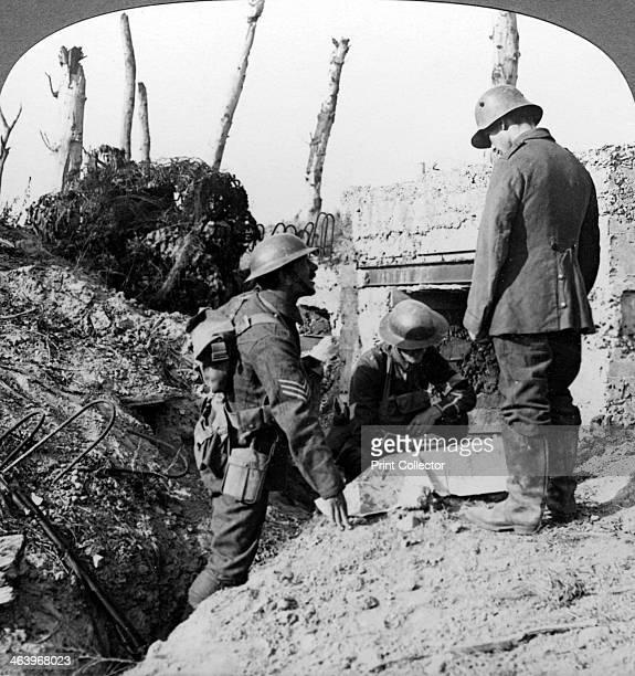 Captured German blockhouse Poelecappelle Belgium World War I 19141918 The Battle of Poelcappelle was part of the larger Battle of Passchendaele...