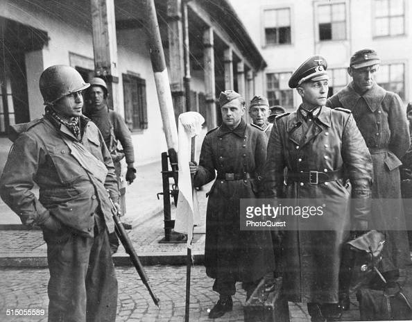 A Captured German General In The Custody Of Us Troops