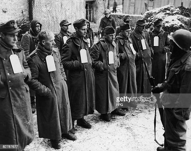 Captured German troops including members of the SS and Luftwaffe and volunteers from Poland and Czechoslovakia during World War II 1st June 1945