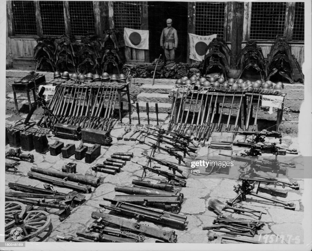 Captured Japanese weapons and paraphernalia in China, 1944  News
