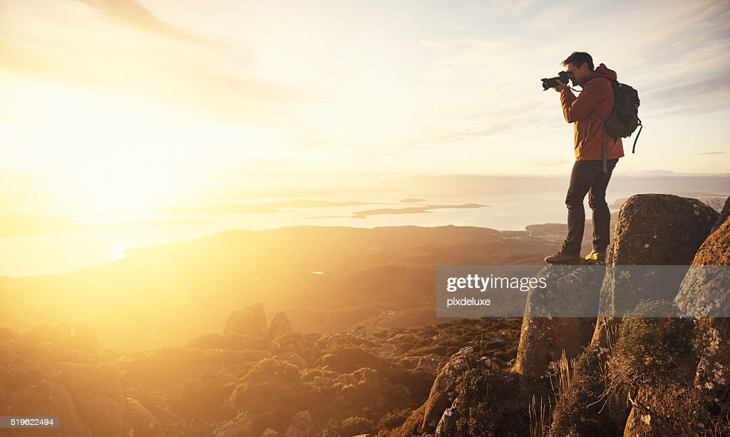 Capturing a beautiful view : Stock Photo