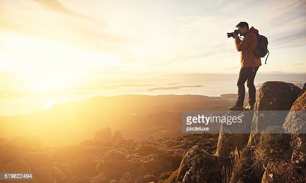 capturing a beautiful view - photographer stock photos and pictures