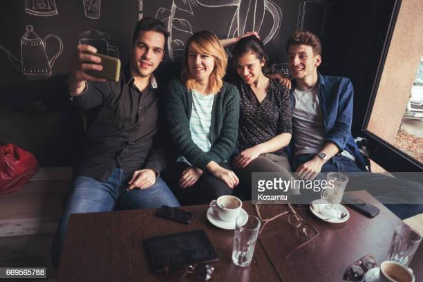 Capturing Double Date In Cafe