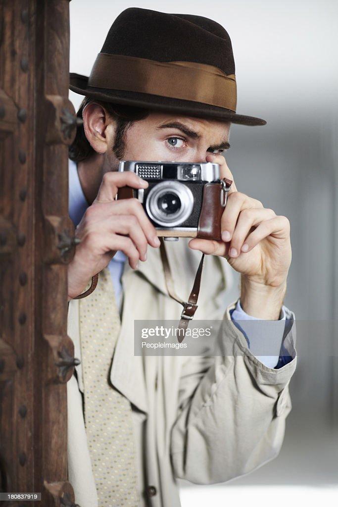 Capturing illicit activities : Stock Photo