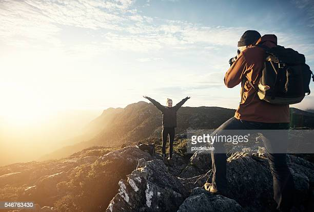 Capturing memories on the mountain