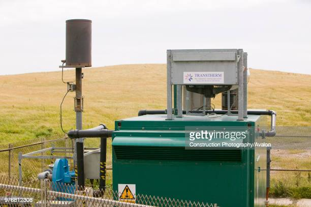 Capturing methane from an old land fill rubbish dump on Walney Island near Barrow in Furness to convert to green electricity Methane is 23 times more...