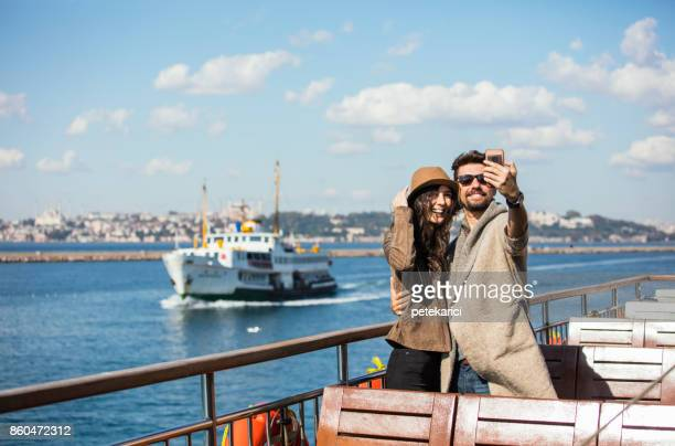 capturing our holiday moments - istanbul stock pictures, royalty-free photos & images