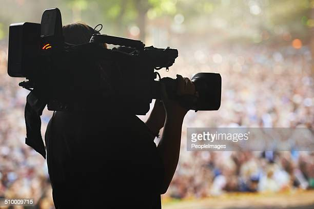 capturing the excitement - television camera stock pictures, royalty-free photos & images
