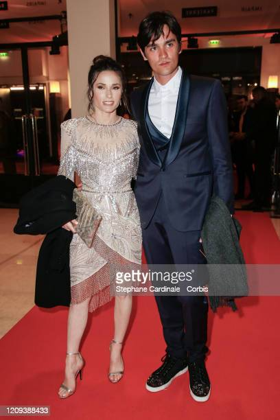 Capucine Anav and Alain Fabien Delon arrive at the Cesar Film Awards 2020 Ceremony At Salle Pleyel In Paris on February 28 2020 in Paris France