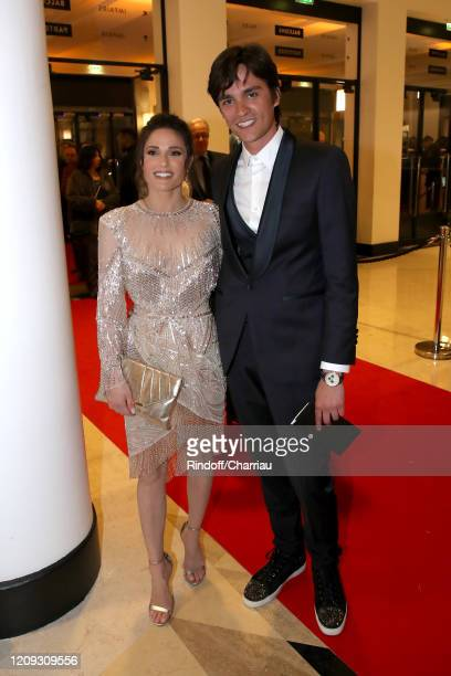 Capucine Anav and Alain Fabien Delon attend the Cesar Film Awards 2020 Ceremony at Salle Pleyel In Paris on February 28 2020 in Paris France