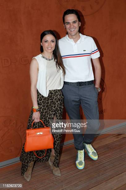Capucine Anav and AlainFabien Delon attend the 2019 French Tennis Open Day Five at Roland Garros on May 30 2019 in Paris France