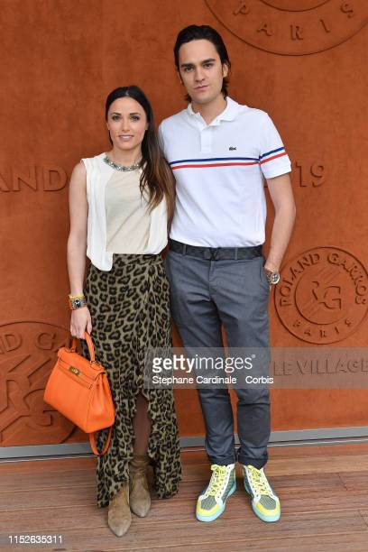 Capucine Anav and AlainFabien Delon attend the 2019 French Tennis Open Day Two at Roland Garros on May 30 2019 in Paris France