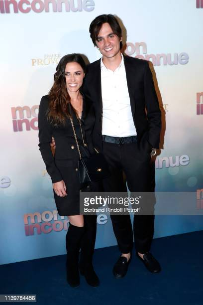 Capucine Anav and AlainFabien Delon attend the Mon Inconnue Paris Premiere at Cinema UGC Normandie on April 01 2019 in Paris France
