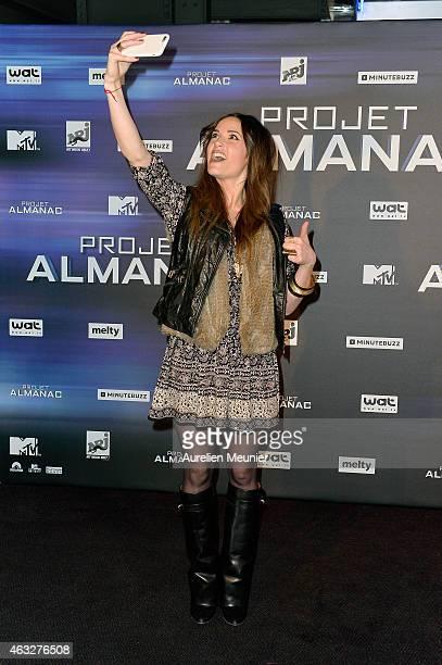 Capucine Anav attends the 'Project Almanac' Paris Premiere at UCG Paris Bercy on February 12 2015 in Paris France