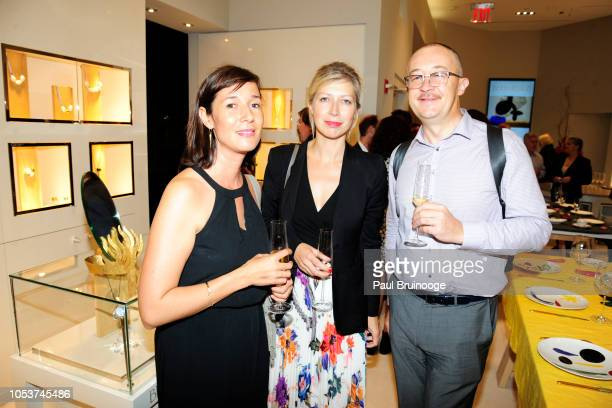 Capucine Bourcart AnneClaire Legendre and Stephane Brenot attend Launch of 'Parler Seul' collection with Mr Michel Bernardaud and Mr Joan Punyet Miró...