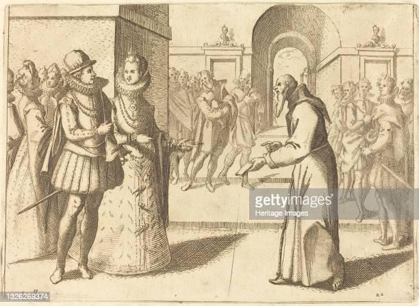 Capucio Bringing Thanks of the King of Bavaria, 1612. Artist Jacques Callot.