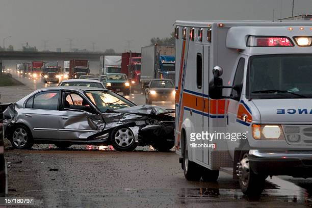 car  accident  crash - personal injury stock photos and pictures