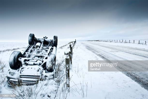 Car Accident in the Winter Snow