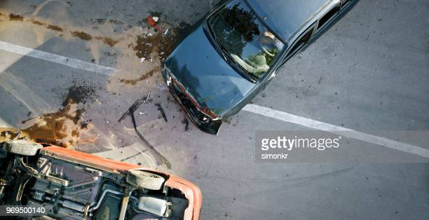 car accident - crash stock pictures, royalty-free photos & images