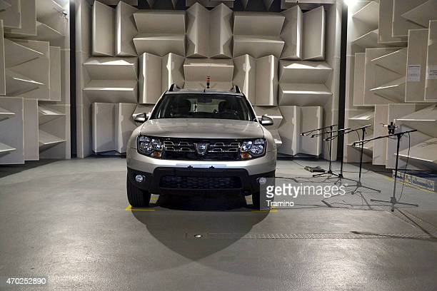Car acoustic tests in a special laboratory