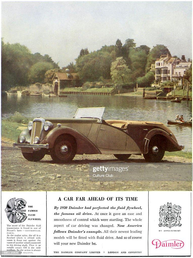 Car advertisment for The Daimler Company  Open top car