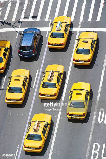 Car and new york taxicabs