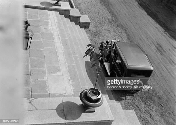 Car and stone steps viewed from a height Photograph by Zoltan Glass c1930 Car and stone steps viewed from a height Photograph taken for advertisement...