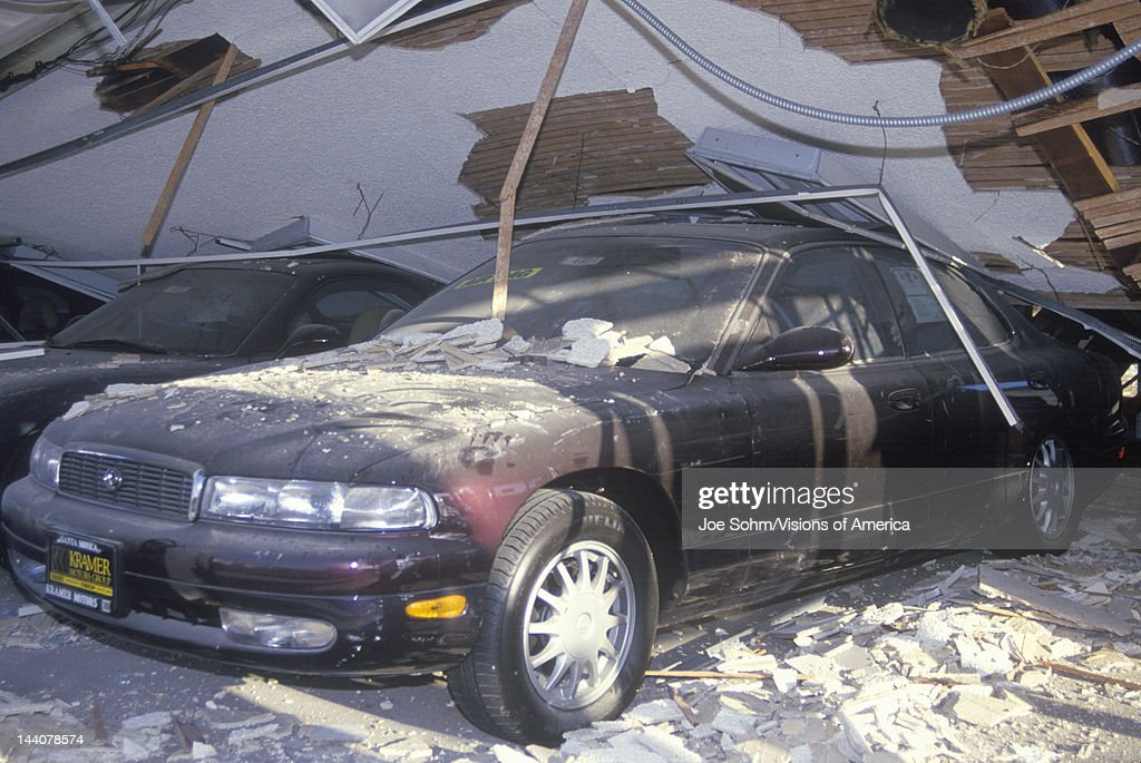 A Car At A Mazda Dealership Crushed In The Los Angeles Earthquake - Mazda dealerships los angeles
