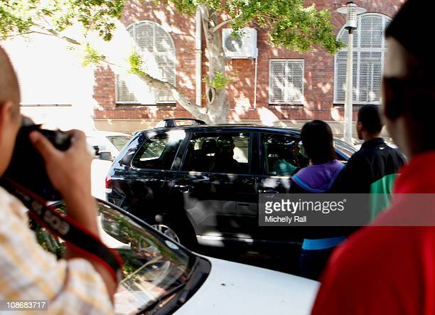 A car believed to be containing Lady Amelia Spencer leaves the Cape Town Magistrates Court on the day where she was due to appear on charges for...