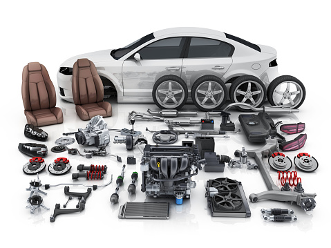 Car body disassembled and many vehicles parts 927781468