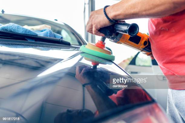 car body polishing - auto repair shop exterior stock pictures, royalty-free photos & images