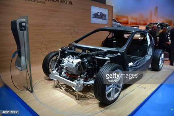 car body with carbon fiber on the motor show - chassis stock pictures, royalty-free photos & images