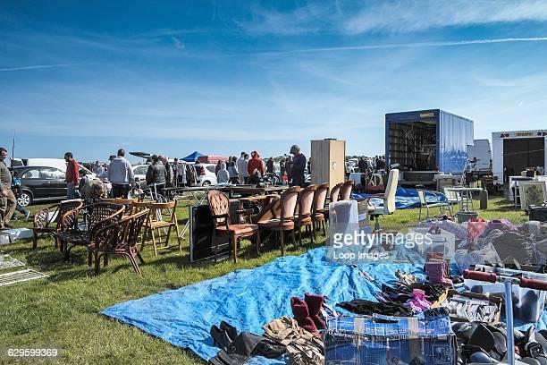 A car boot sale in Essex Basildon England