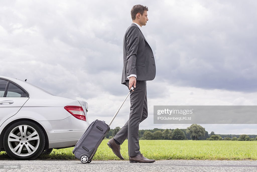 Car Breaking Down Stock Photo