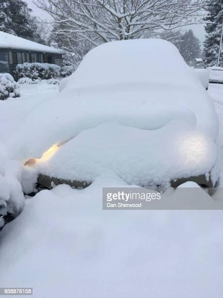 Car Buried in Snow after a Snowfall - Portland, Oregon