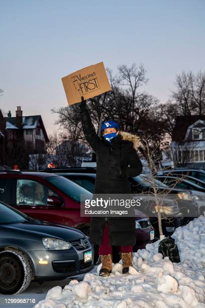 Car caravan protest, Rally to demand a safe return to in person learning in Minneapolis Public Schools.