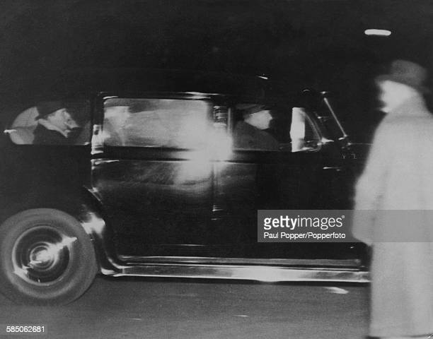 A car carrying Prince Edward leaves Windsor Castle in Berkshire after Edward broadcast his abdication speech to the nation 11th December 1936