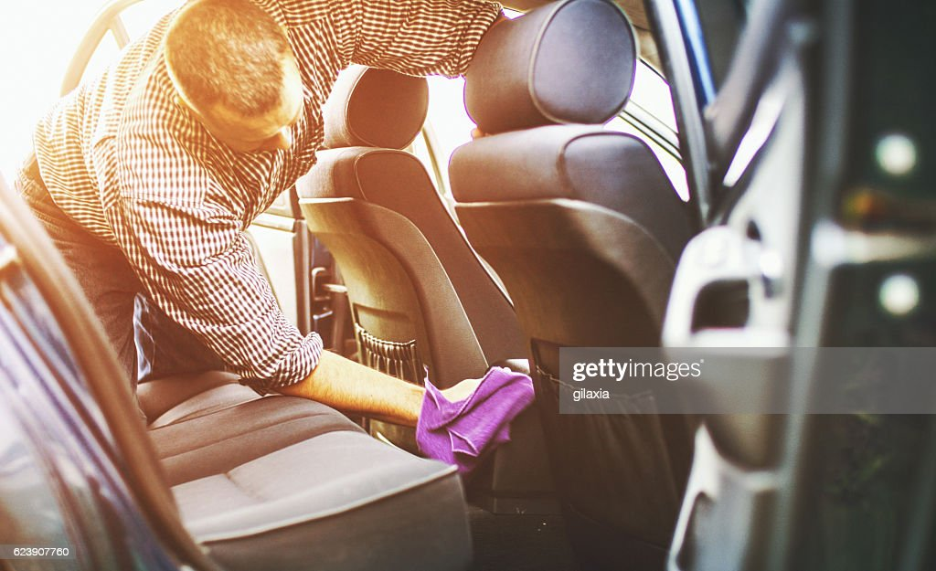Car cleaning. : Stock Photo
