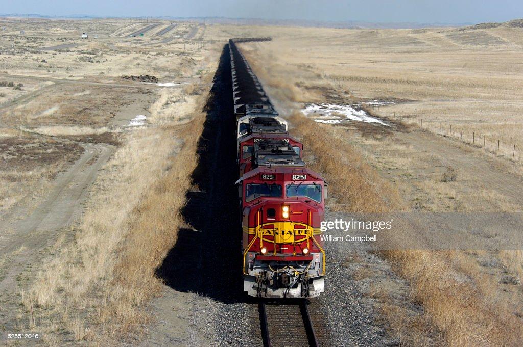 Coal Train Moves Through Montana : News Photo