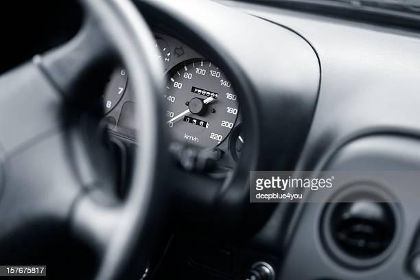 cockpit von einem Sport Auto cabrio