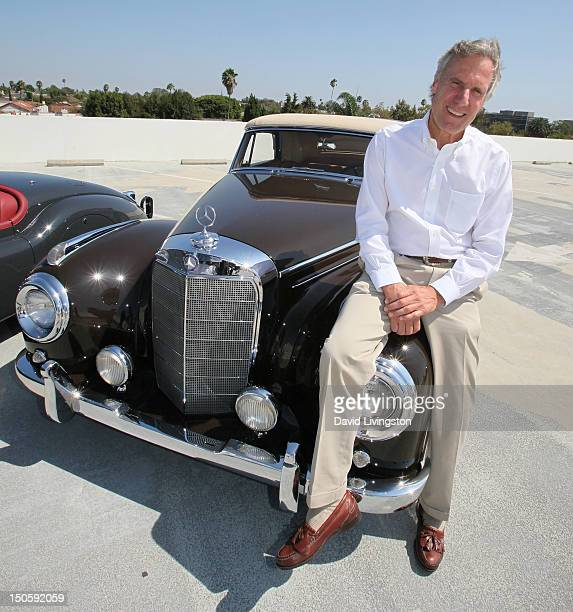 Car collector Bruce Meyer poses with his 1957 Mercedes Benz 300 Sc Cabriolet once owned by actor Clark Gable at the Petersen Automotive Museum on...